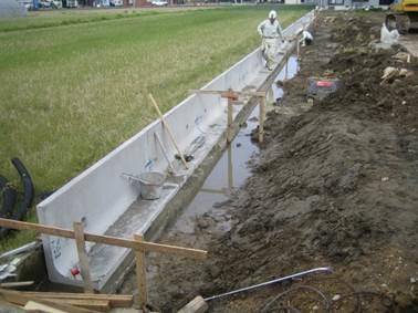 プレキャストL型擁壁の施工方法