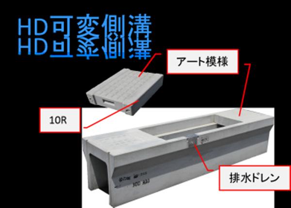 自由勾配側溝 【HD可変側溝】製品紹介