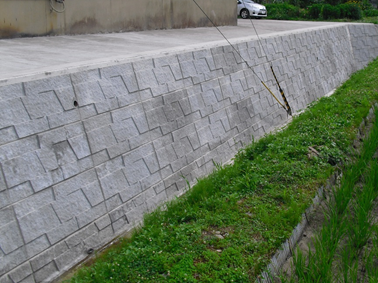 大型積みブロックの施工方法