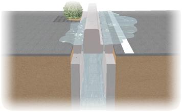 排水能力が高い U字溝『かんたん側溝』
